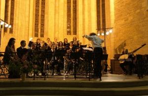 Ensemble Antiphona, choeur du festival, dir. Rolandas Muleika.  © D. Gastellu
