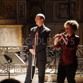 Falko Munkwitz : sacqueboute ; Annette Wils : flûte à bec